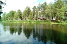 Участок в лесу у реки